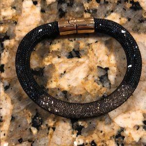Swarovski Crystal Dust Bracelet; black and Rose